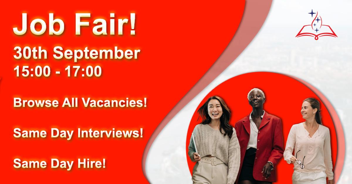 Job Fair 30th September!